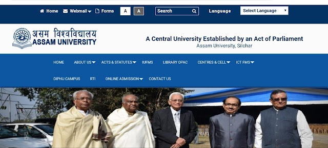 Assam University BA, B.Com, Bsc, results  How to check your result?