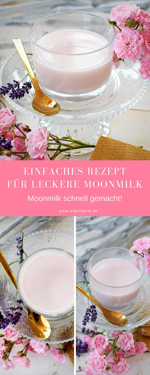 schnelles Rezept für Moonmilk, Moon Milk mit Rosen und Lavendel