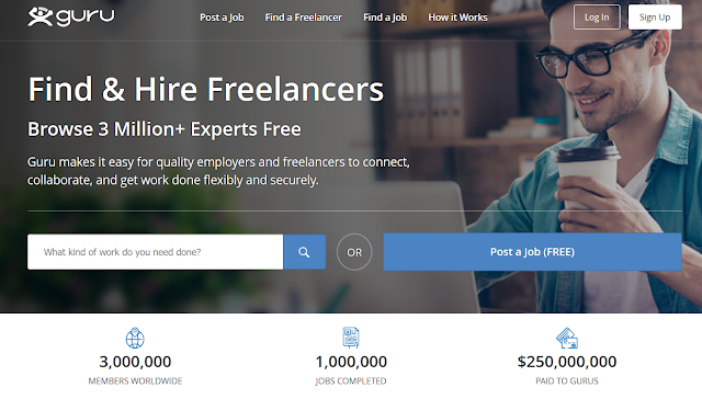 guru freelancing job website for freelancer