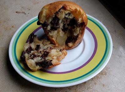 Birnen- und Schokoladenmuffins