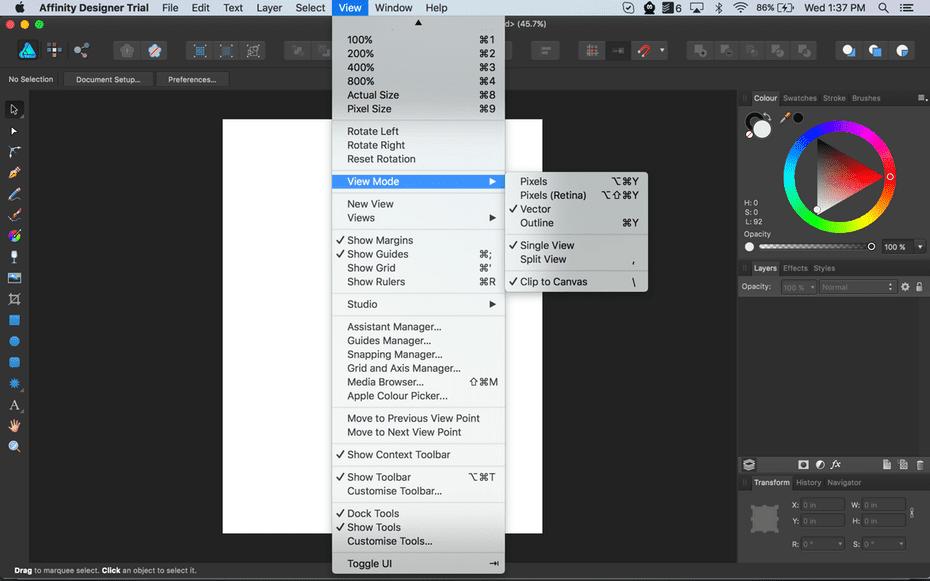 Aplikasi Pengganti CorelDRAW Illustrator - Affinity Designer