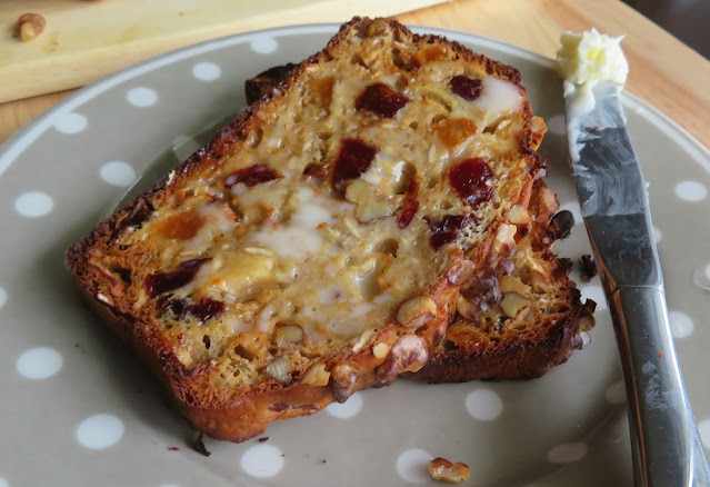 Dried Apple, Pear & Plum Breakfast Bread