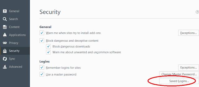 lupa password firefox tidak ingat