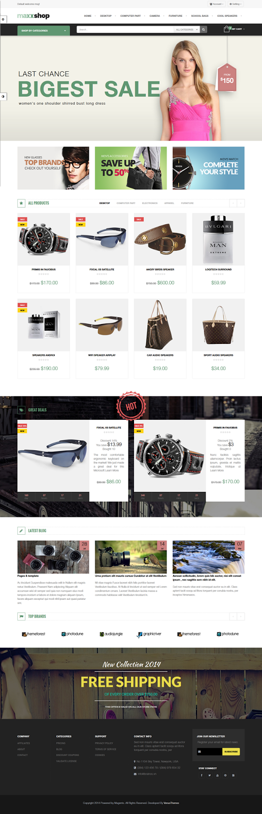 download magento theme