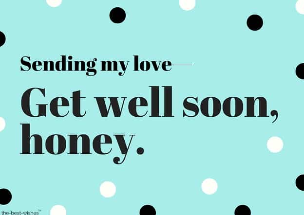 get well soon love messages