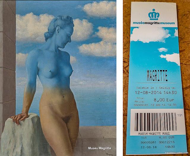 Ingresso para o Museu Magritte, Bruxelas