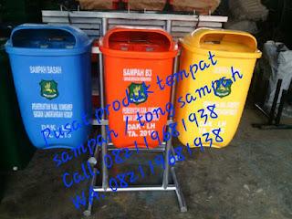 Tempat / tong sampah 3 jenis Pabrikasi Standing ashtray