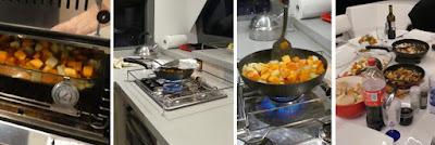 Kochen auf dem Katamaran Sunsail 454 - Gemüse mit Feta
