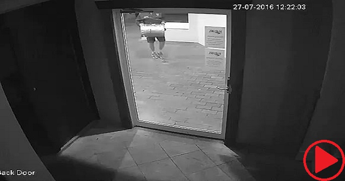 Getting through a glass door