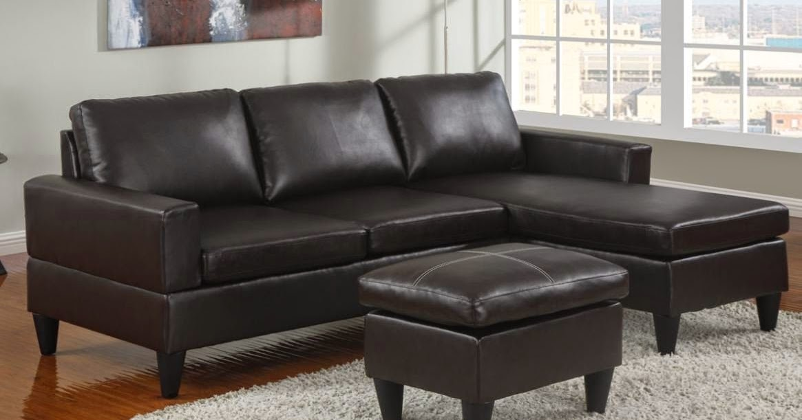small sofa: small leather sofa