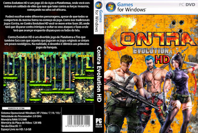 Jogo Contra Evolution HD PC DVD Capa