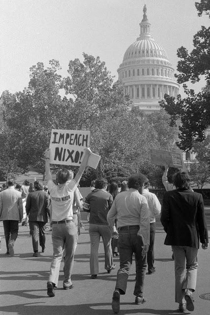 Nixon Protest. Impeach Nixon! Misspelled Impeach. marchmatron.com.