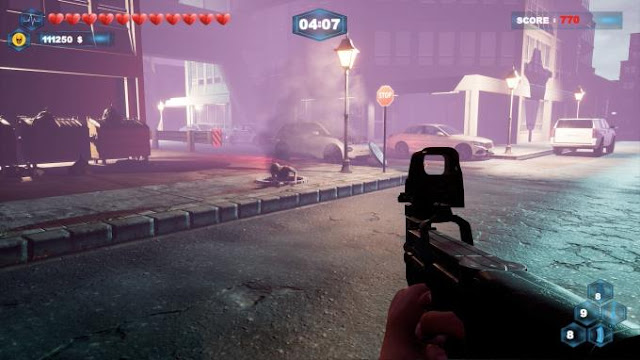 Waves of Death all you need to know about this game is a survival horror game, in the conditions of zombie apocalepsis