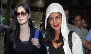 Katrina Kaif & Priyanka Chopra spotted at the Mumbai Airport!