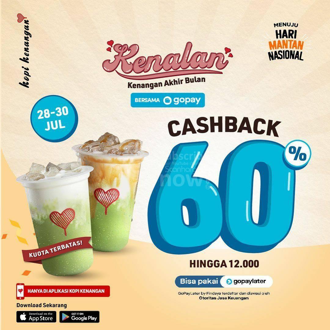 Kopi Kenangan Promo Gopay Cashback 60% hingga Rp. 12.000