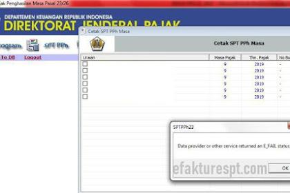 eSPT Error Data Provider Or Other Service Returned an E_FAIL Status