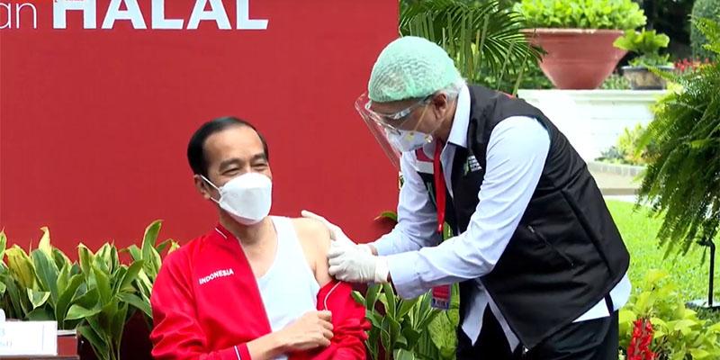 Disuntik Vaksin Lagi, Jokowi: Sama Seperti Dua Minggu Lalu, Tidak Terasa