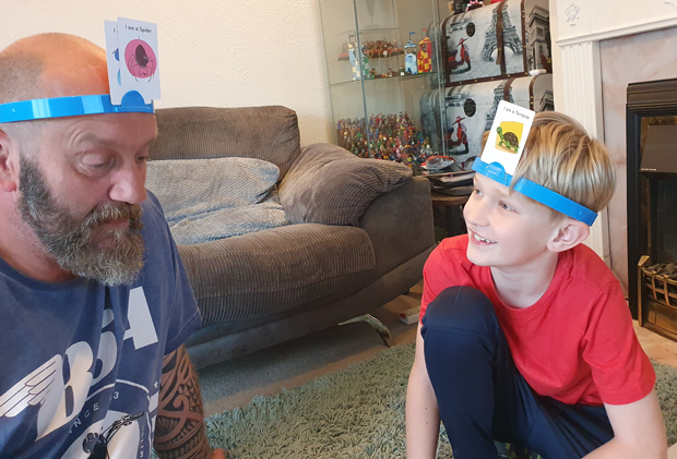 Hedbanz such a fun and belly laughing game to play