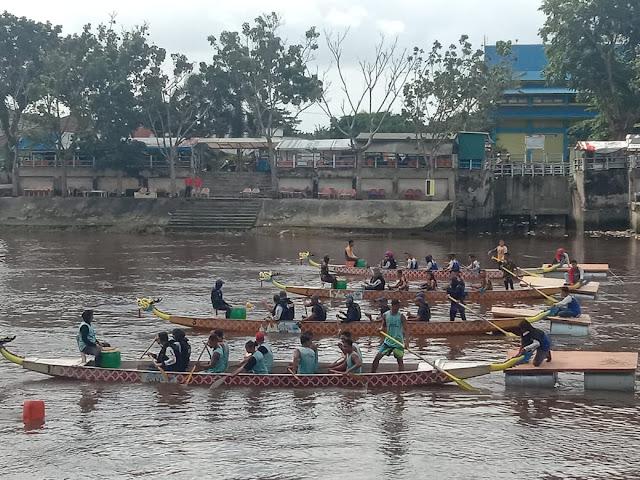 HUT Polairud Ke 69, Sungai Siak Dijadikan Tempat Festival Dragon Boat Tahun 2019