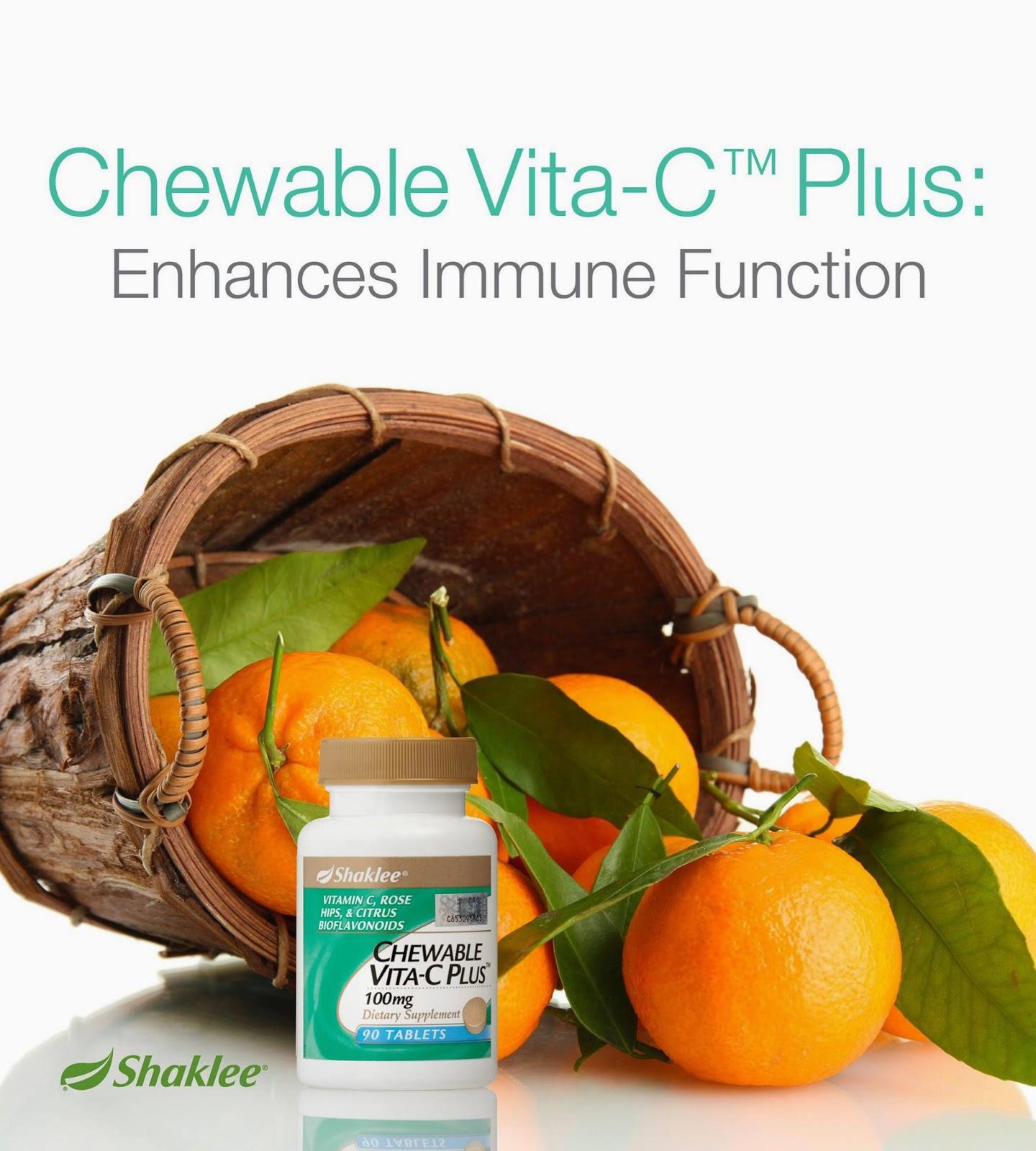 Chewable Vita-C Shaklee membantu merawat masalah resdung kanak-kanak