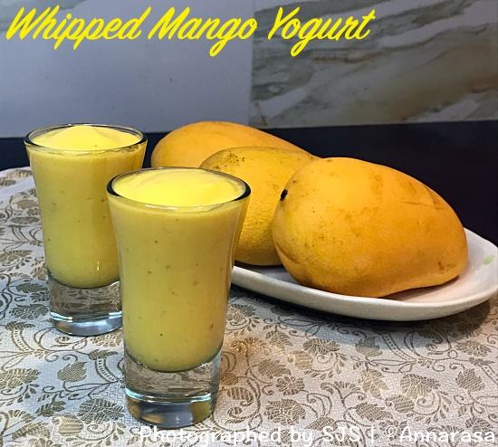 Whipped Mango Yogurt with Champagne Mangoes