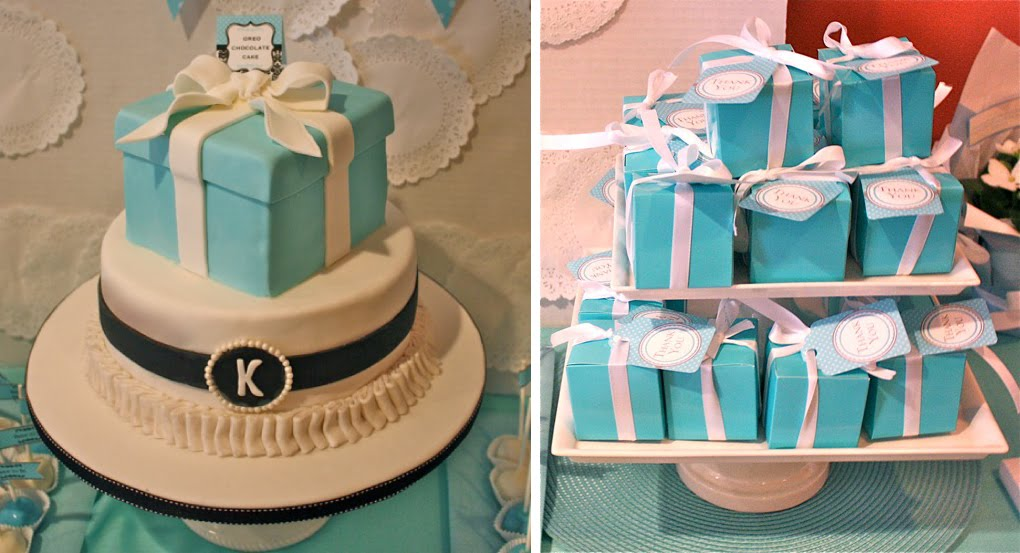 Breakfast At Tiffany's Bridal Shower Cake - CakeCentral.com  Tiffany Bridal Shower Cakes