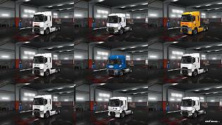 ets 2 european logistics companies paint jobs pack screenshots, ets 2 renault range t skins, hellmann, geodis, max bögl, havi logistics, wincanton, hermes, omsan logistics, culina, palletline