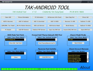 TAK-Android Tool | Frp remove | Lock remove | Backup