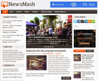 NewsMash - Responsive 3 Column Blogger Template
