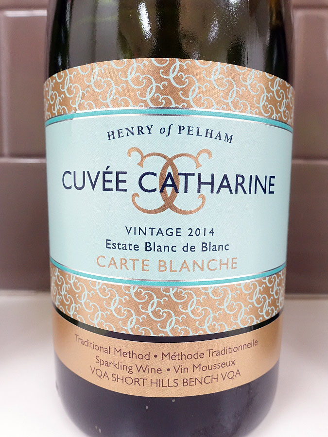 Henry of Pelham Cuvée Catharine Carte Blanche Estate Blanc de Blanc 2014 (92 pts)