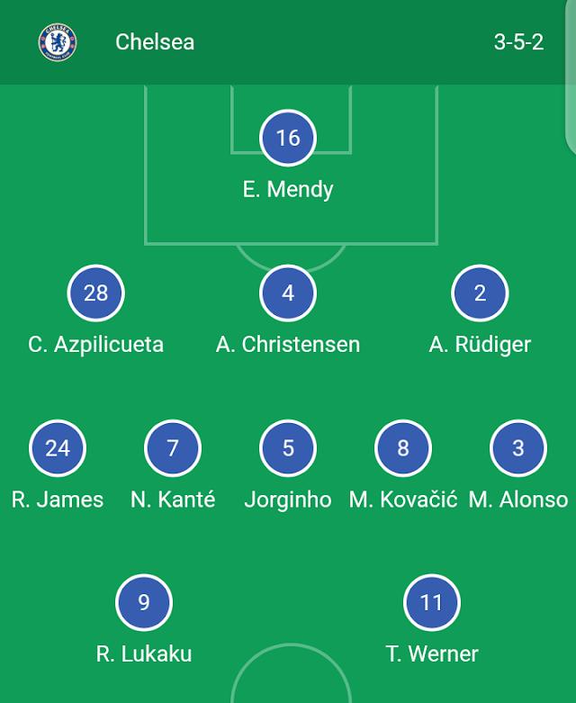 Official Teams Line-up: Chelsea vs Manchester City - Premier League
