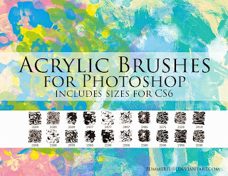 Acrylic Brushes Photoshop