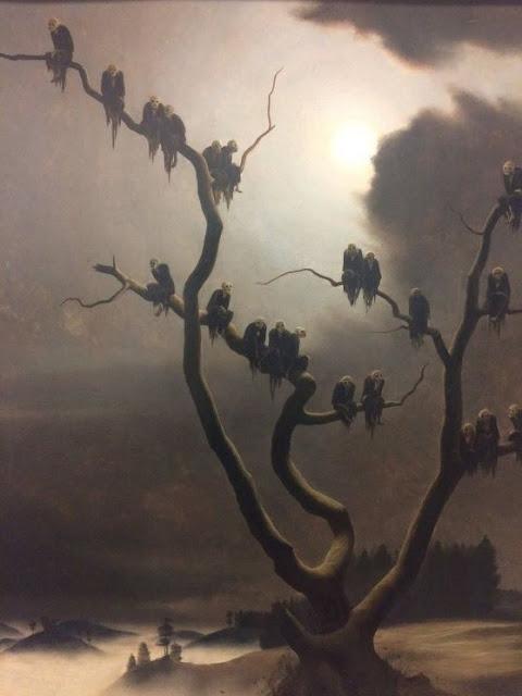 Ghosts on a tree - Franz Sedlacek