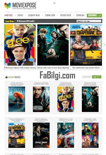 Blogger Dizi Film Sitesi Teması İndir Ücretsiz 2020 moviexpose