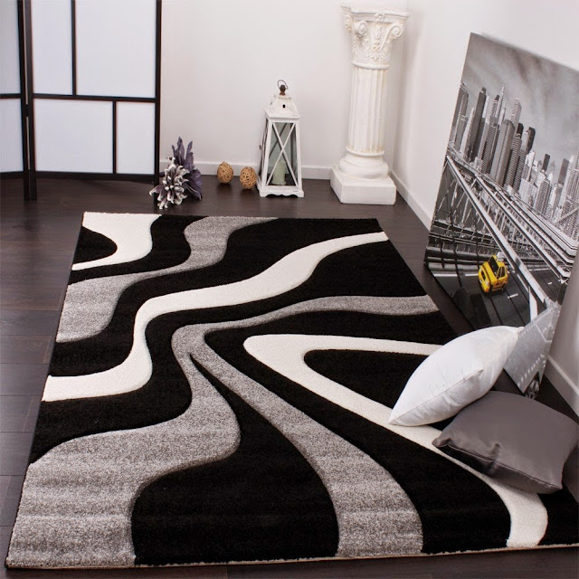 Tapis de salon pas cher contemporain et design - Tapis salon gris design ...