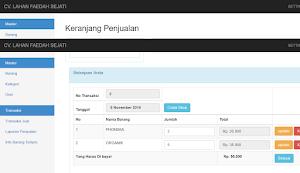 Source Code Aplikasi Penjualan Barang (Kasir) dan restock dengan PHP MYSQL
