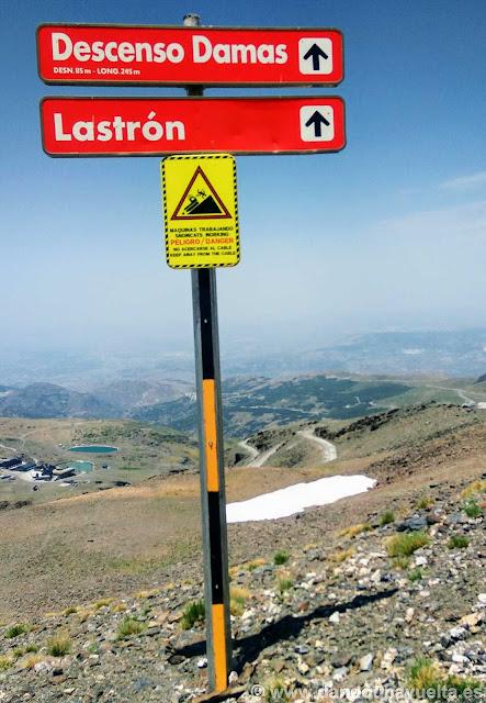Señales de las pistas de esquí