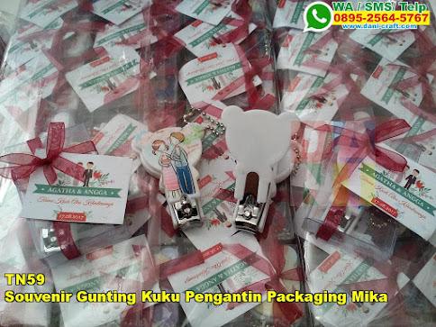 Jual Souvenir Gunting Kuku Pengantin Packaging Mika