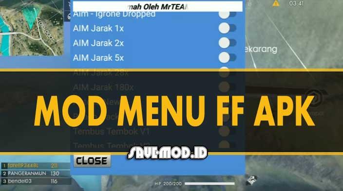 Download MOD Menu FF APK Anti Banned Terbaru 2019
