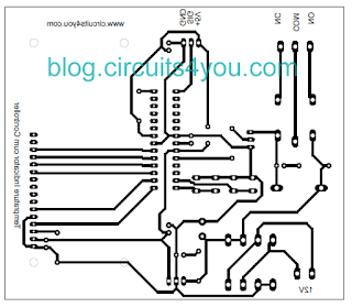AVR Microcontroller based Temperature Controller project PCB Layout