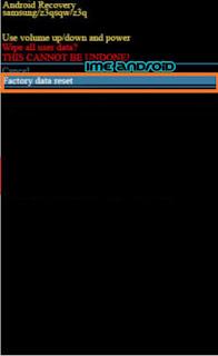Reset data via recovery mode