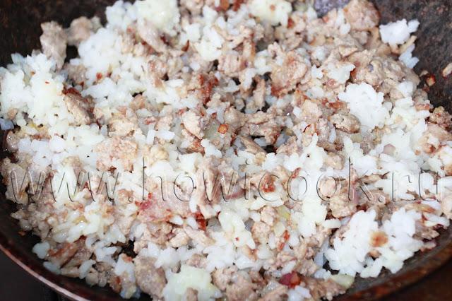 рецепт фаршированных блинчиков с мясом и рисом с пошаговыми фото