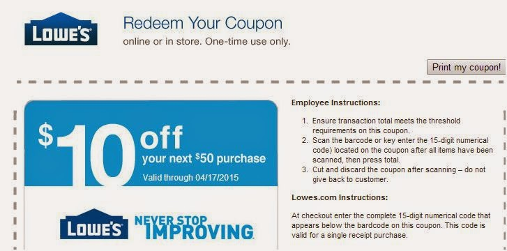 Lowes 50 Off 250 Coupon Code | 2017 - 2018 Best Cars Reviews