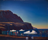 Greenlanders (Near Godhavn) by Rockwell Kent - Landscape Paintings from Hermitage Museum