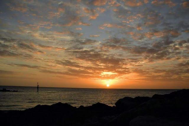 Adelaide to Melbourne Road Trip: Sunset over Glenelg Australia