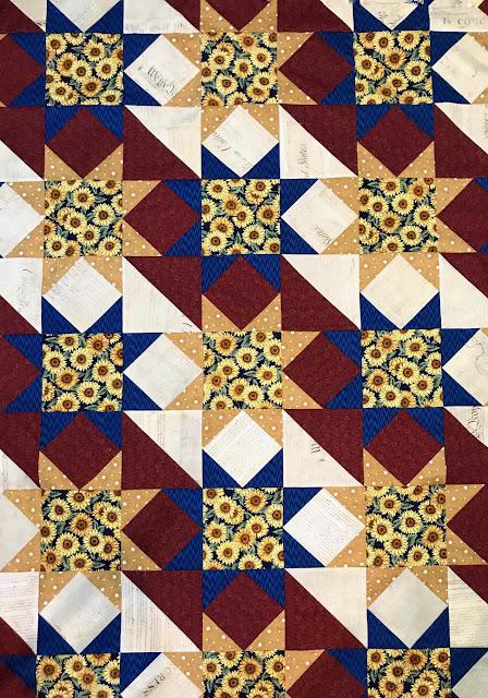 Sunflower Stars QOV by Thistle Thicket Studio. www.thistlethicketstudio.com