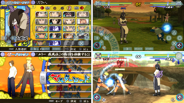 download Game PPSSPP Naruto Shippuden Narutimate Accel 3 ISO PSP Android