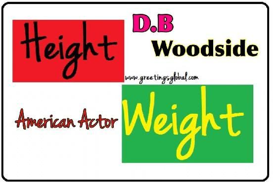 d.b. woodside height weight