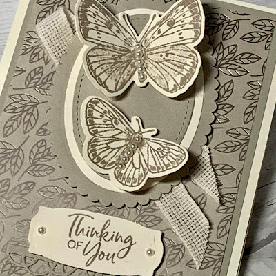 Close up of butterfly greeting card using Butterfly Brilliance Stamp Set from Stampin' Up!