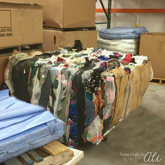 Deseret Industries clothing pod for humanitarian aid around the world